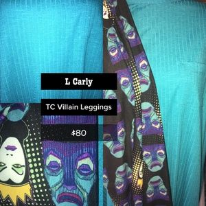 LuLaRoe Large Carly and TC Evil Queen leggings